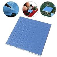 10 x 10 x 1 mm 100 PC durable CPU disipador de calor refrigeración térmico conductivo almohadillas de silicona