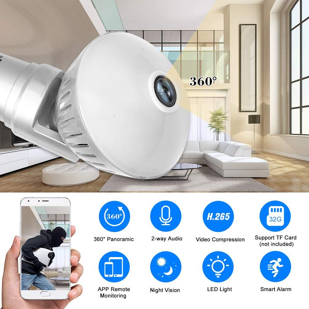 Visione notturna senza fili Sicurezza domestica 1080P // 960P Macchina fotografica wifi Baby Monitor con Motion Detection Audio bidirezionale Registrazione della carta di TF Festnight Telecamera IP