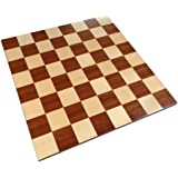Zelus Borderless Tournament Chess Board with Inlaid Mahogany Wood - Board Only ? 18 Inch