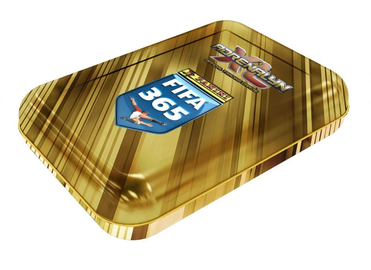 Click 2018-19 Panini Adrenalyn FIFA 365 Adrenalyn XL Pocket Tin Includes: 30 cards and LIMITED EDITION card