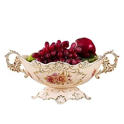 Amazon Com Zfgg Ceramic Fruit Basket Binaural Painted Fruit Plates