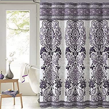 Luxury Home MIH-SHC-7272-HO-PL Mariah Cotton Shower Curtain