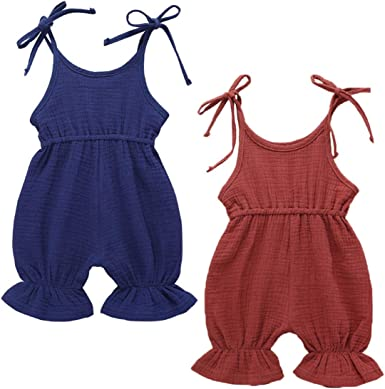 Baby Rompers Sleeveless Girls Jumpsuits Kids One piece Bodysuit Outfits Clothes