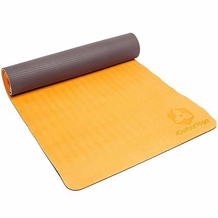 Esterilla de yoga » śītalā «/Producto respetuoso con el medio ambiente y hipoalergénica de alérgenos TPE de Matte/suave y antideslizante/Ideal para ...