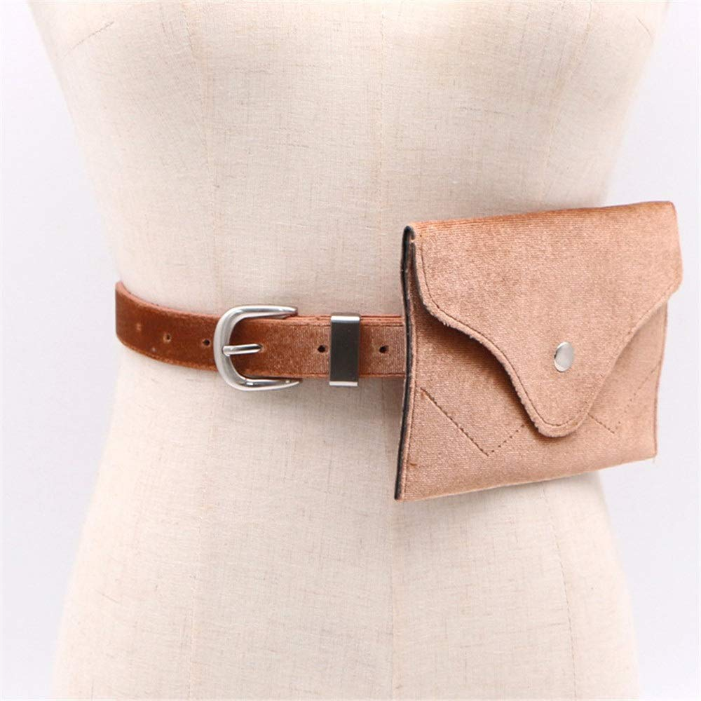 Women Belt Bags Womens Belt Bags Solid Suede Leather Waist Bag Snap Fanny Pack Adjustable Removable Belt with Waist Pouch Travel Bumbag Cell Phone Money Pouch for Women Cross Body