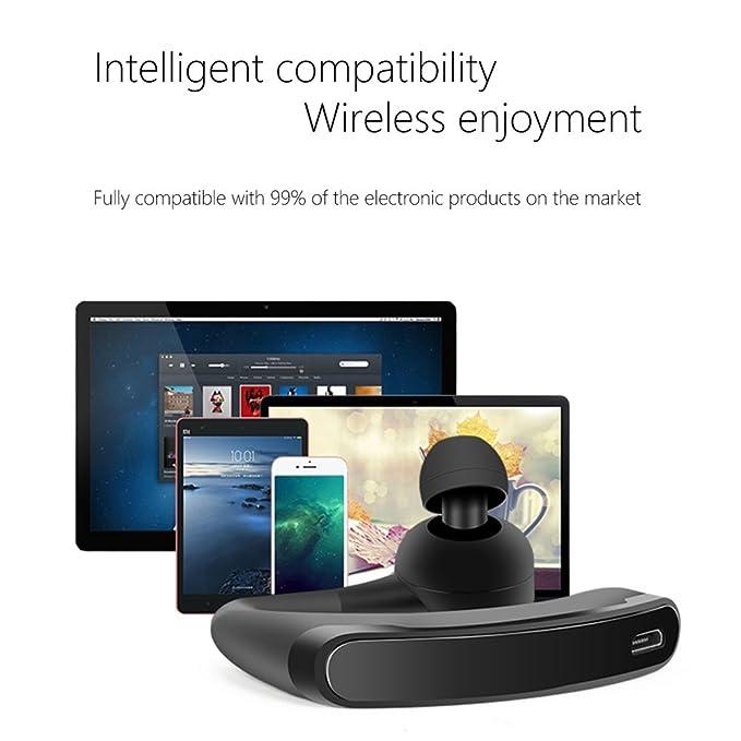 Negocios Bluetooth auricular con micrófono Control de voz coche oficina manos libres auriculares auriculares con micrófono para la conducción trabajo viajes ...