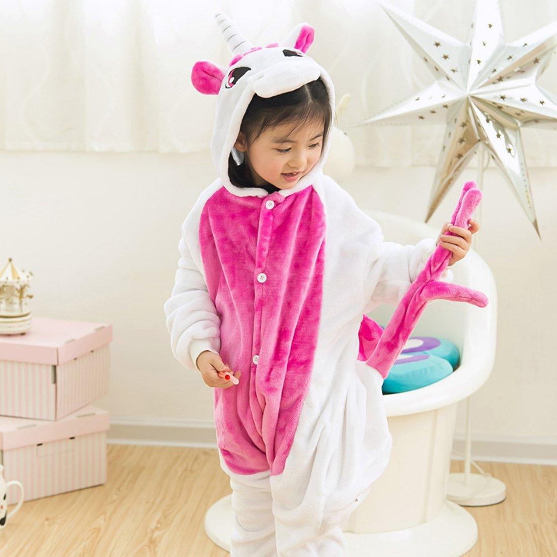 IFLIFE Kids Boy Girl Pajamas Onesie Cosplay Costume Animal Sleepwear