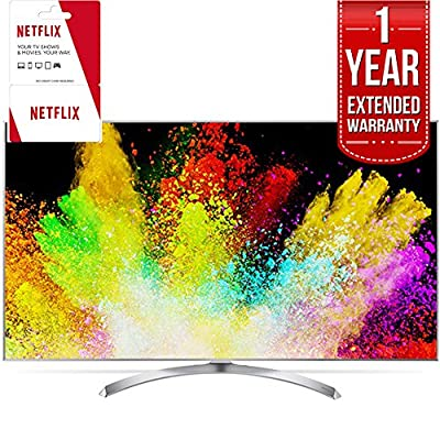 "LG 65"" Super UHD 4K HDR Smart LED TV 2017 Model (65SJ8000) Includes 1 Year of Netflix + 1 Year Extended Warranty"