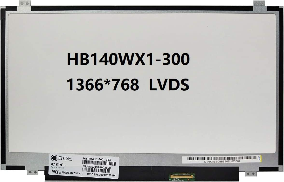HB140WX1-300 New Replacement LCD Screen for Laptop LED HD Glossy