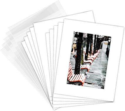 Pack Of 50 8x10 White Picture Mats Mattes With White Core Bevel Cut For 5x7 Photo Backing Bags Amazon Co Uk Kitchen Home