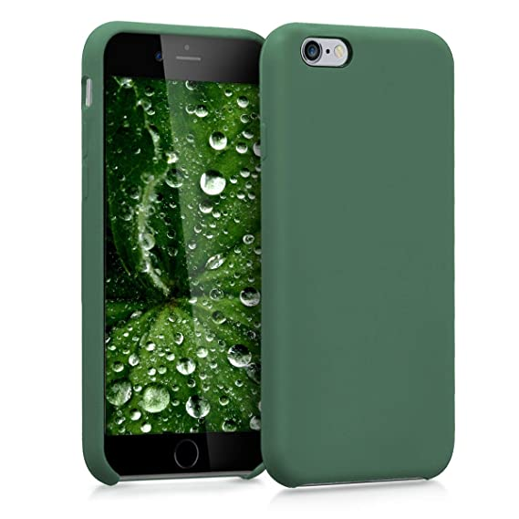 sports shoes 86920 e5e1b kwmobile TPU Silicone Case for Apple iPhone 6 / 6S - Soft Flexible Rubber  Protective Cover - Dark Green
