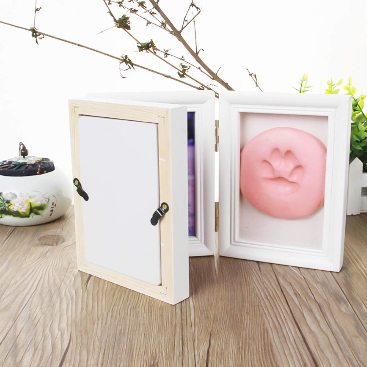 Handabdruck Baby-Party Geschenk zum Geburtstag Haustier Pfotenabdruck f/ür Neugeborene Fu/ßabdruck Bilderrahmen f/ür Neugeborene