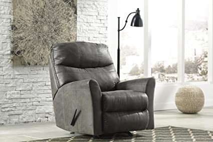 Ashley Furniture Signature Design   Tullos Rocker Recliner Chair   Manual  Reclining   Contemporary Style