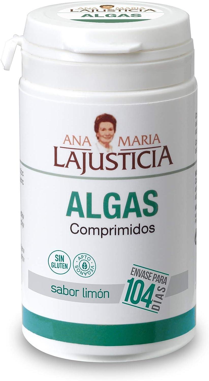 Ana Maria Lajusticia - Algas – 104 comp (sabor limón). Mejora de la celulitis y favorece la eliminación de líquidos. Apto para veganos. Envase para 104 días de tratamiento.