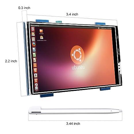 Kuman Raspberry Pi 3 Caja Generation, 3.5 Pulgadas Pantalla Táctil LCD Monitor HDMI Apoya Todo Raspberry PI Systems, Video y película Play, Juego Arcade ...