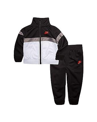 Nike Boy`s 2 Piece Tracksuit (Black(76E633-023)/White, 6): Amazon ...
