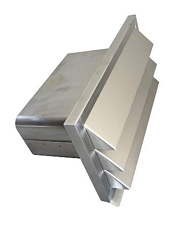 Mauerkasten Abluftjalousie L/üftungsgitter Abluftgitter EASYTEC/® Au/ßenjalousie /Ø 125 mm Edelstahl geb/ürstet mit R/ückstauklappe aus Metall 125 mm