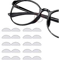 12 paar zelfklevende neuspads antislip siliconen brillenkussens voor glazen zonnebril bril (1 mm doorzichtig)