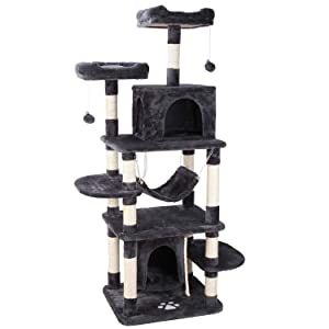 """POTBY 67"""" Multi-Level Cat Tree Play House Climber Activity Centre Tower Stand Furniture"""