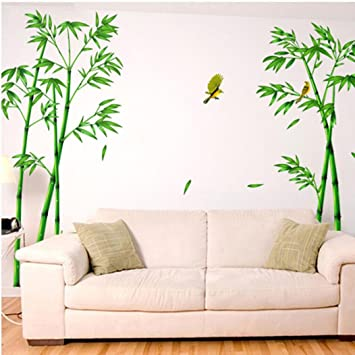Hatop Deep Bamboo Forest 3D Wall Stickers Romance Decoration Wall Home Decor
