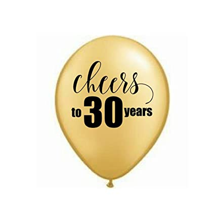 Amazon Gold Cheers To 30 Years 30th Balloons Birthday