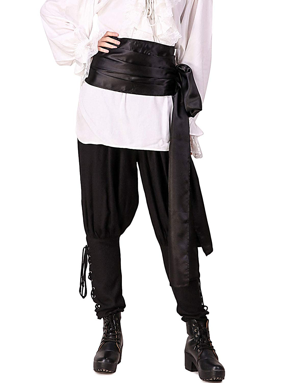 fdec25e168 Amazon.com  Pirate Medieval Renaissance Linen Large Sash  Almond   Clothing