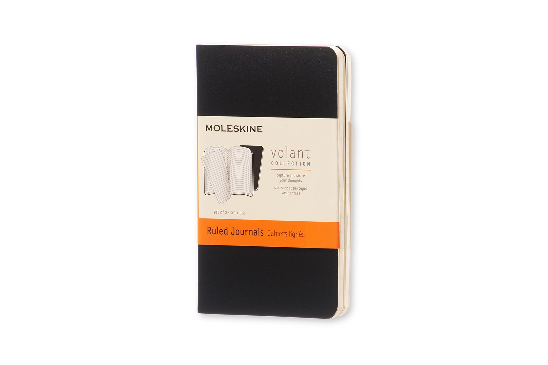 Moleskine Volant Notebook (Set of 2), Extra Small, Ruled,...