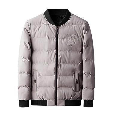 OPAKY Abrigo Hombre Invierno Chaqueta Hombre Moda Simple Abrigo ...