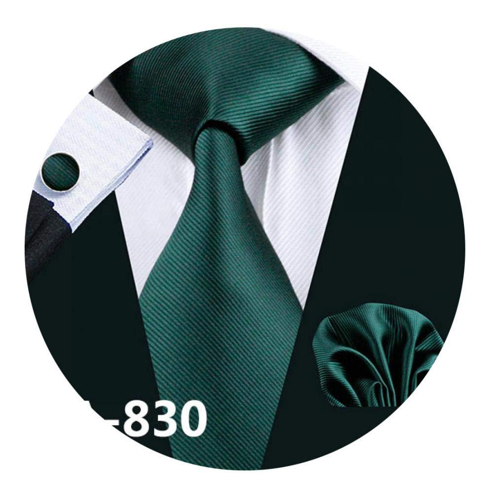 FA-709 Mens Tie Red Geometric Silk Jacquard Neck Tie Tie Hanky Cufflinks Set