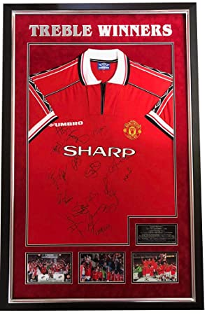 ec33b8e4e Manchester United Treble Winning Shirt Genuine Hand SIGNED Autograph AFTAL  UACC RD  Amazon.co.uk  Kitchen   Home