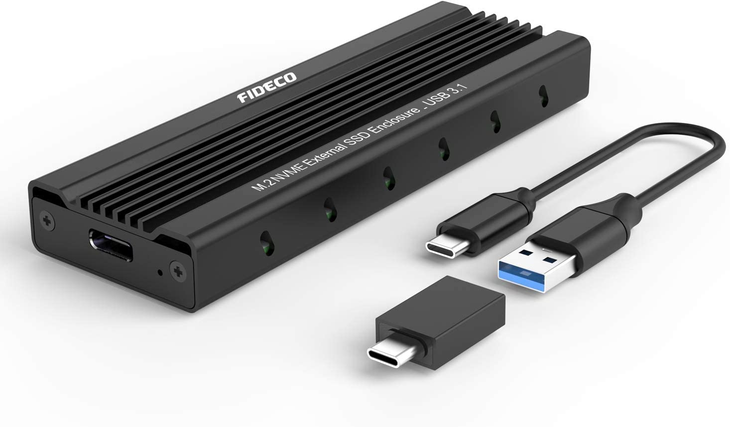 FIDECO M.2 NVME Carcaça Externa SSD, PCIe USB 3.1 Gen 2, 10 Gbps ...