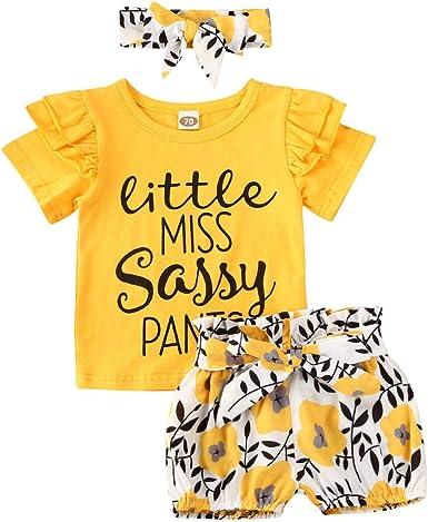 3PCS Infant Baby Girl Christmas Outfit Clothes Tops Romper+Tutu Shorts Pants Set