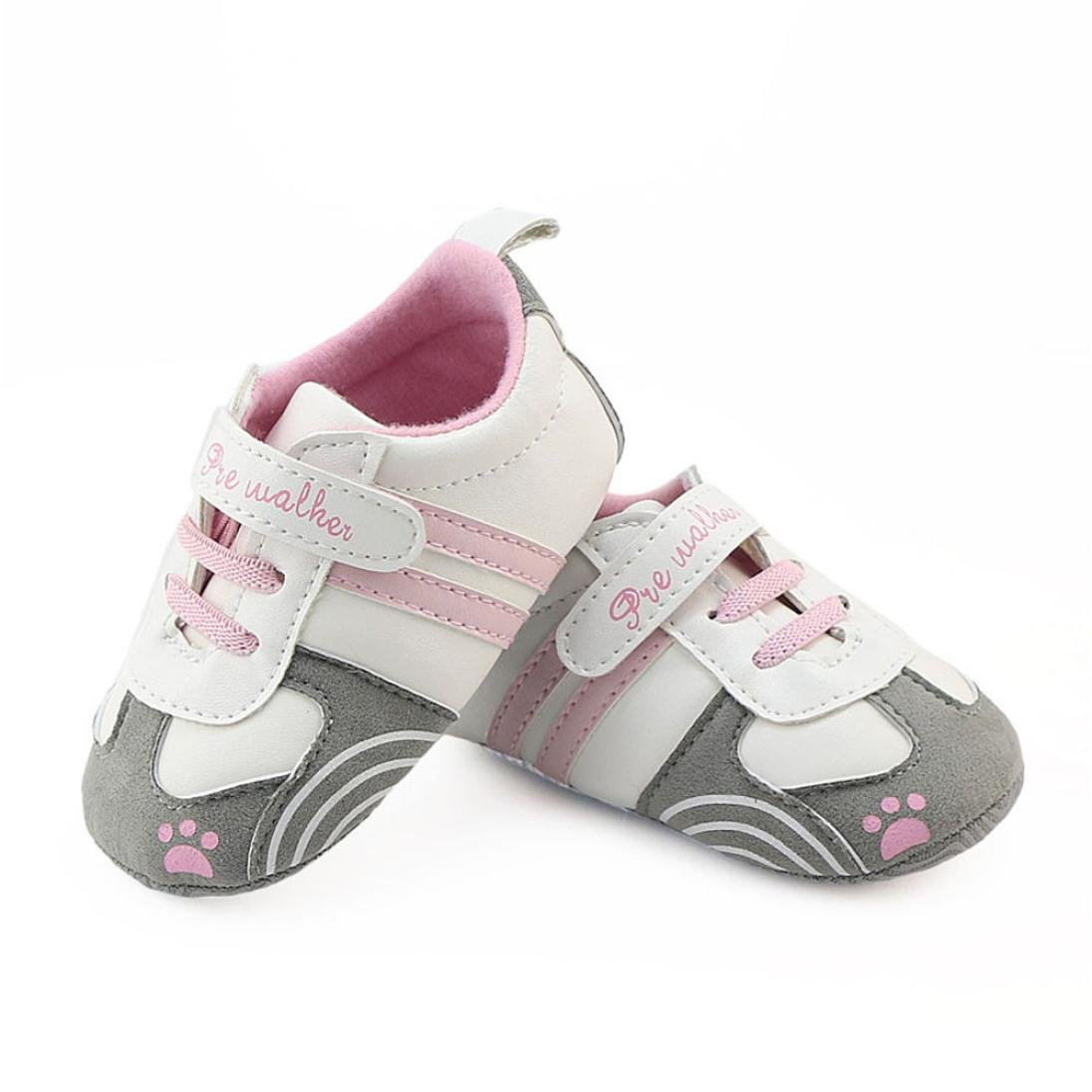 162d10265d2 Baby Sneakers Girls,Amiley Infant Toddler Baby Girls Boys Letter Outdoor  Lightweight Soft Sole Shoes Prewalker Causal Crib Sneakers Shoes (Pink