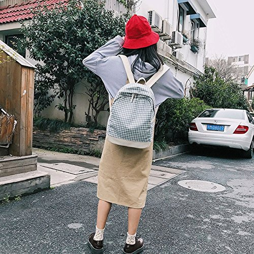 Double Shoulder Freshness grigio Zaino Girl Bag MSZYZ blu Girl Bad7qw