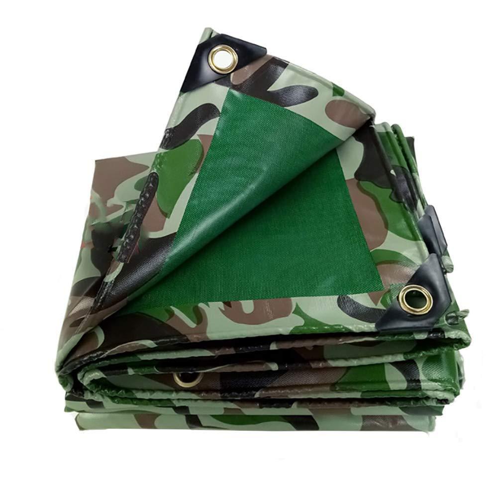 4X4M  SXY888 BÂche Verte, Camouflage, Double Face, Couverture de Camion de Prougeection Solaire Anti-poussière, Tissu imperméable et Froid, Couverture de Jardin pour Voiture de Camping, 450 g   m2