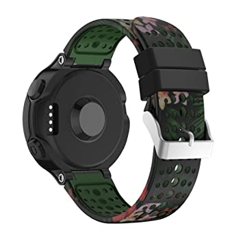 Para Garmin Forerunner 235 GPS reloj correa, prevently Fashion repuesto camuflaje Silicagel suave banda correa para Garmin Forerunner 235 GPS reloj, ...