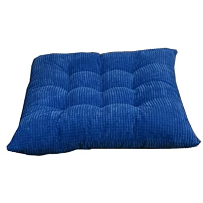 Kylin Express Indoor/Outdoor Soft Home/Office Squared Corduroy Seat Cushion,Blue: Home & Kitchen