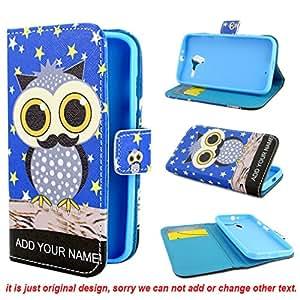 Leathlux Owl Design PU Leather Stand Flip Case Cover for Motorola Moto X