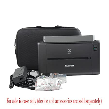 Adada Hard Travel Case Fits Canon PIXMA iP110 Wireless Mobile Printer with Battery Attached