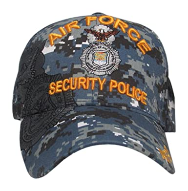 US Air Force Security Police Baseball Hat, Digital Blue, One Size at