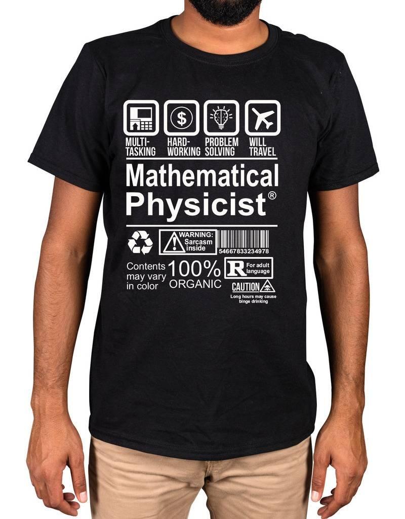 Ulterior Clothing Mathematical Pysicist Slogan Nerd Genius Shirts