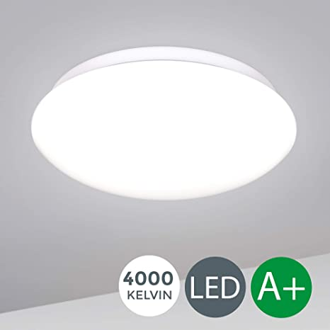 Plafón de blanco moderno LED Ø330mm 12W, Lámpara de techo ...