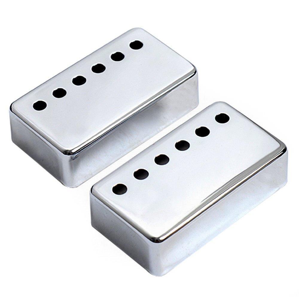 Kmise a7512 10 Piece Les Paulギターブリッジピックアップカバー52 mm Pole Spacingフィット、クロム   B00RT7QP06