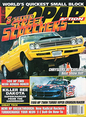 (Mopar Action December 1999 Magazine 8-SECOND STREET SCORCHERS 1100 HP Twin Turbo Viper Cruiser/Racer)