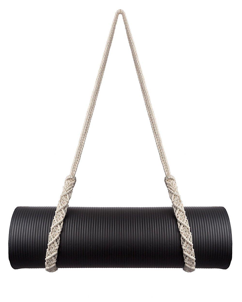 Mkouo Yoga Mat Correa de Transporte Ajustable Sling Macrame ...