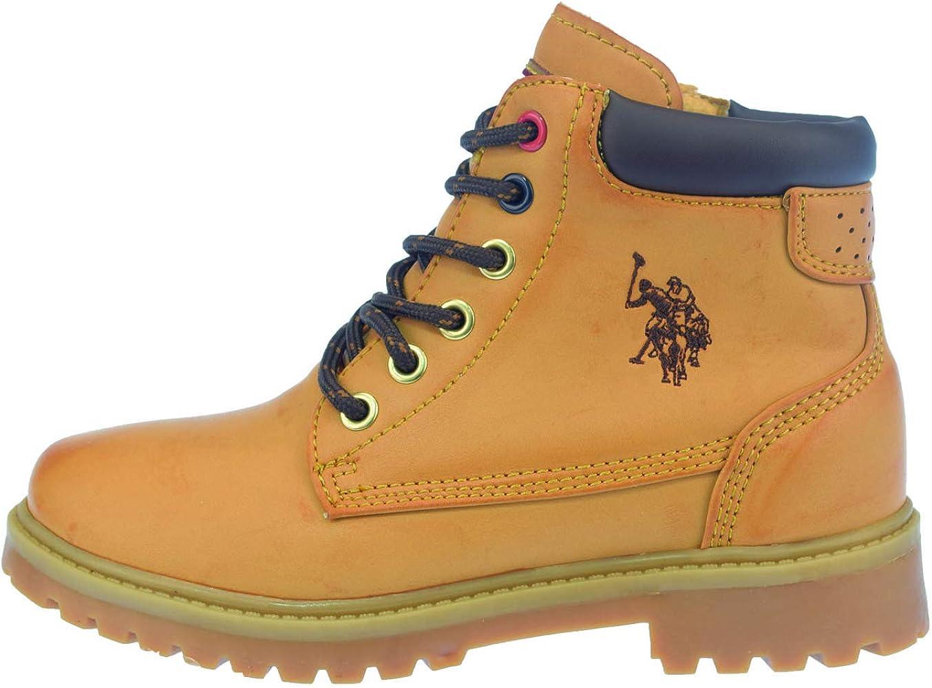 U.S.POLO ASSN. - Botas para niña Amarillo Dorado Amarillo Size: 34 ...
