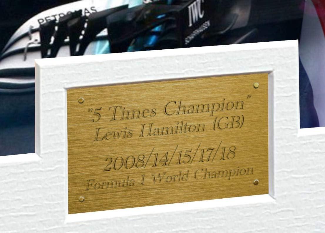 Lewis Hamilton Don signé A4 Imprimé autographe F1 Cadeaux Imprimé Photo