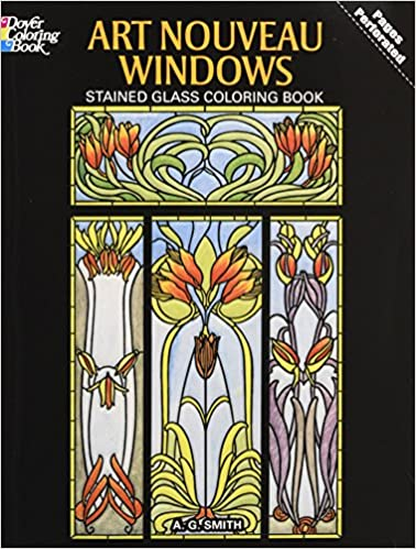Art Nouveau Windows Stained Glass Coloring Book (Dover Design ...