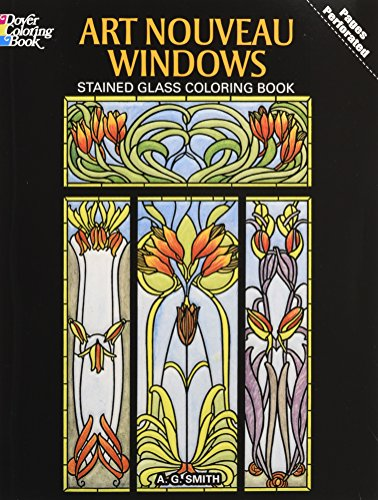 Art Nouveau Windows Stained Glass Coloring Book (Dover Design Stained Glass Coloring Book)]()