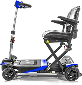 Transformer Automatic Folding Travel Scooter BLUE with Lightweight Lithium Battery